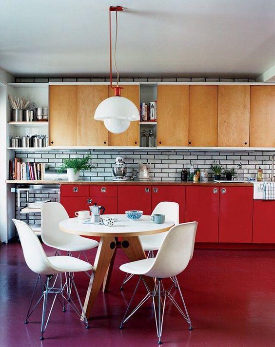 سيراميك-مطبخ-احمر