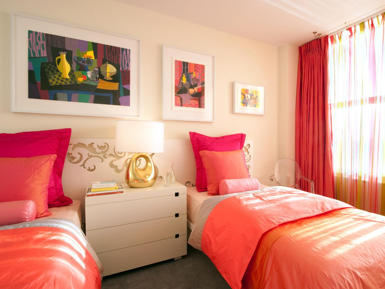 غرفة نوم أطفال مودرن 2019 بألوان زاهية تناسب ذوق الفتيات