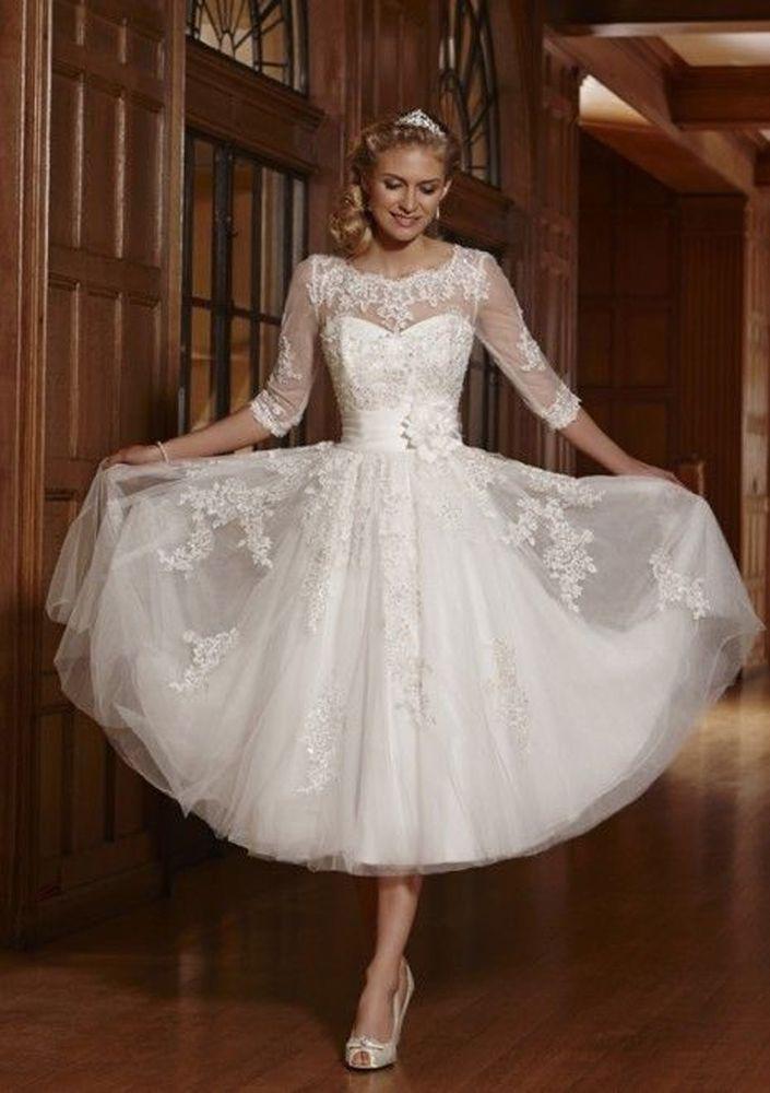فستان زفاف قصير ناعم