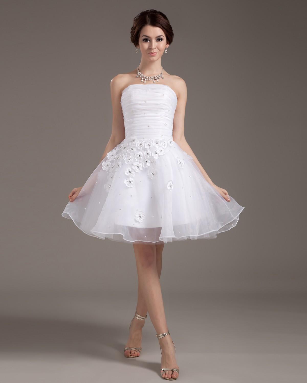 فستان زفاف شيفون مطرز بالورد