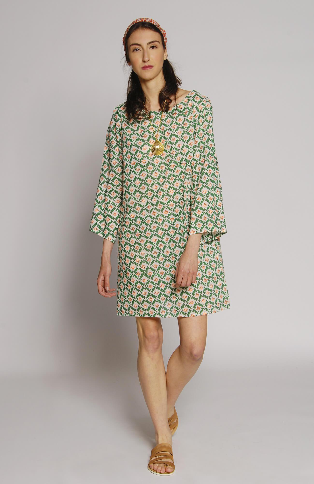 فستان قصير من القطن