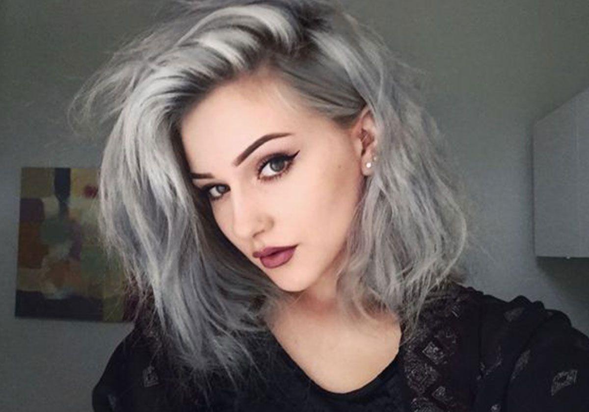 صبغة شعر باللون الرمادي الثلجي