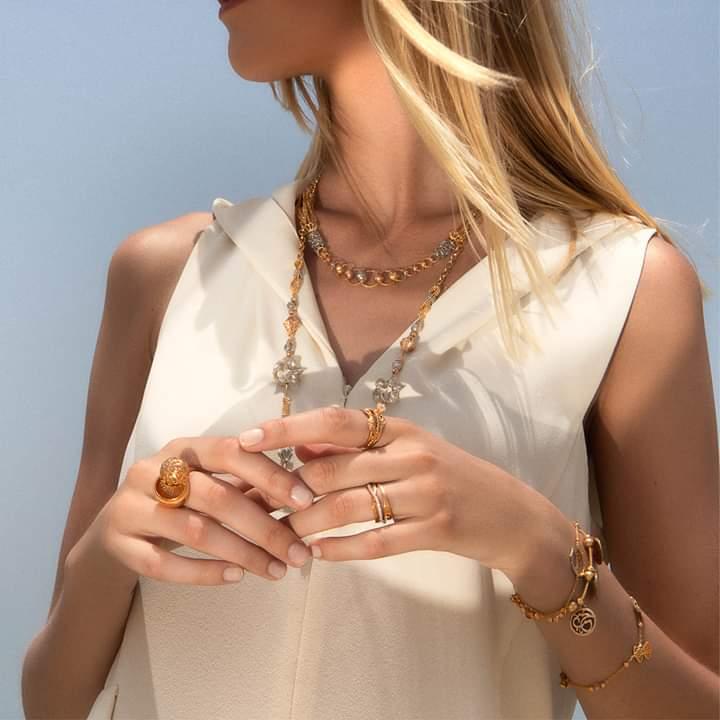 مجموعة مجوهرات لازوردي للخواتم الذهبية