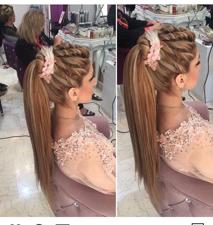أشكال تسريحات الشعر للمناسبات