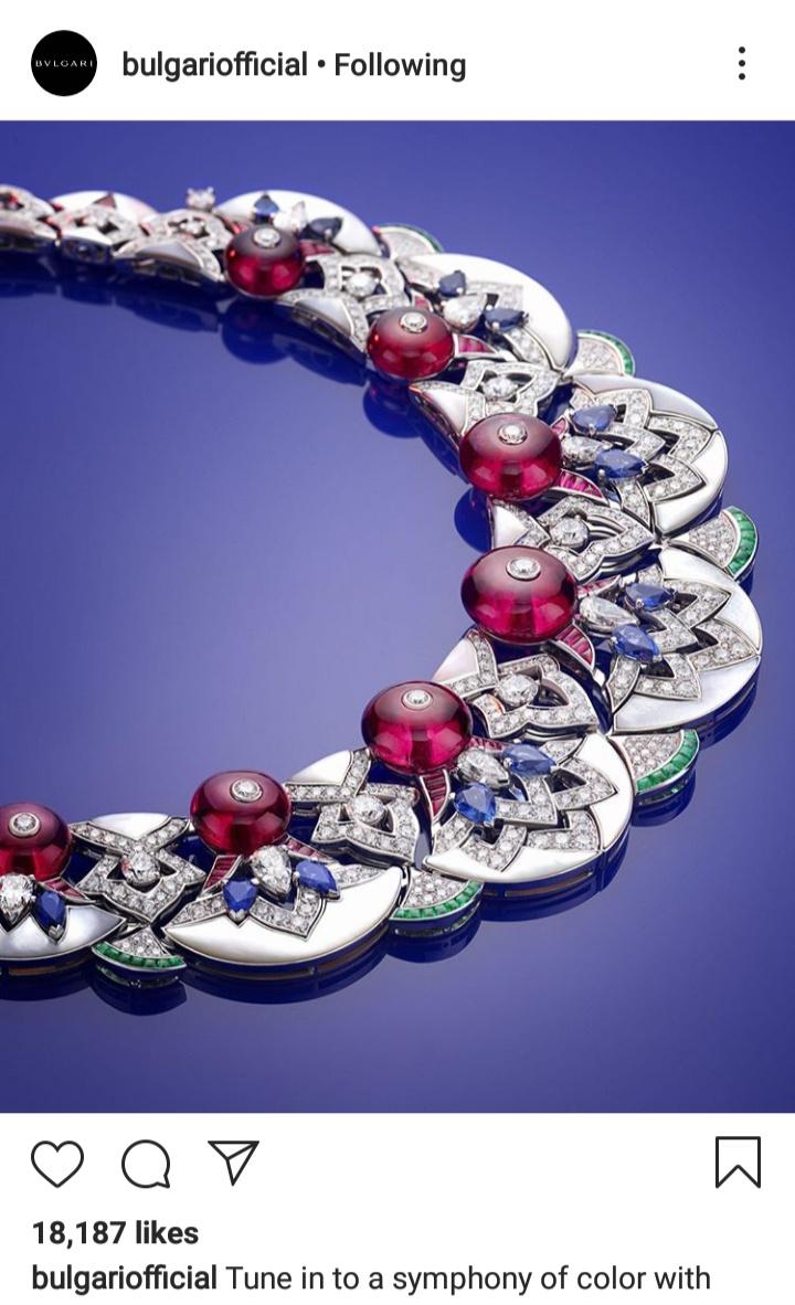 مجوهرات ماسية باللون الزهري من مجموعة بولغاري