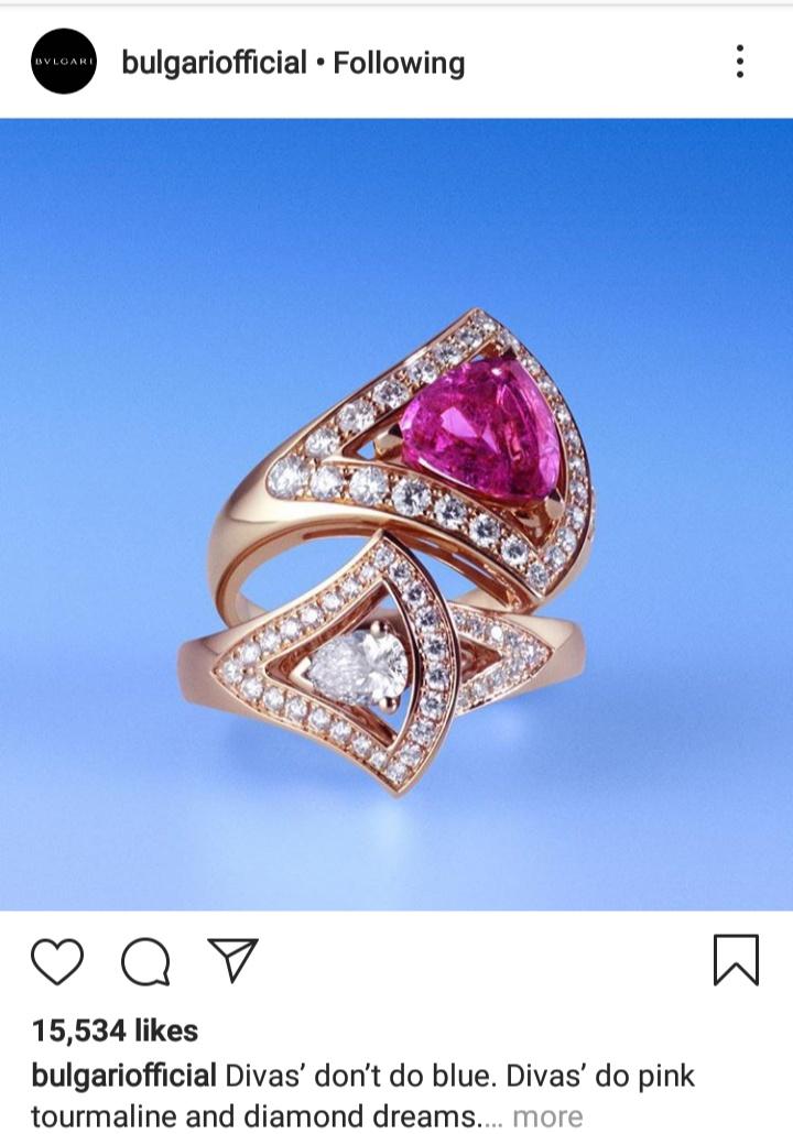 خاتم ألماس من باللون الزهري من مجموعة بلغاريا
