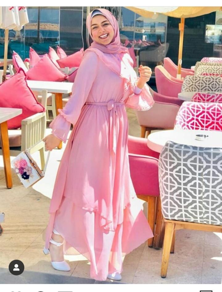 صورة فستان مميز للخروجات النهارية بأكمام طويلة