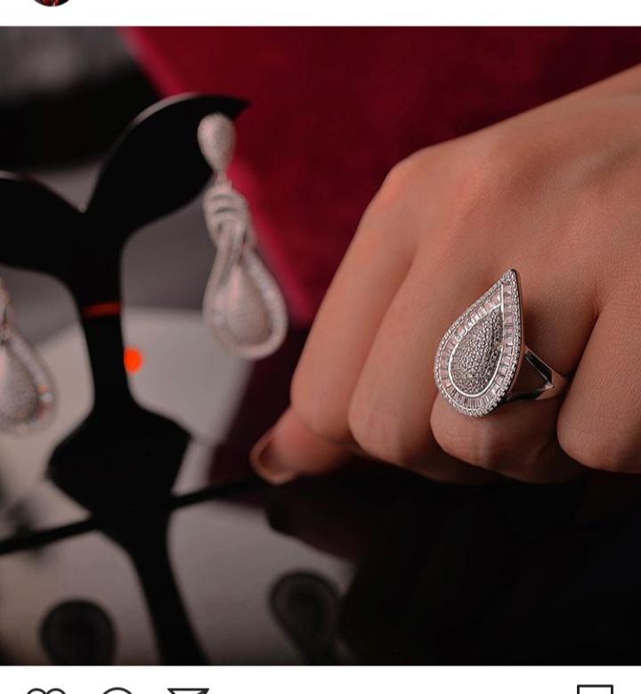 خاتم ألماسي مميز بتصميم عصري مميز