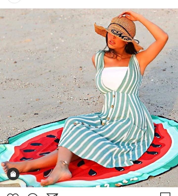 فستان قصير صيفي ناعم