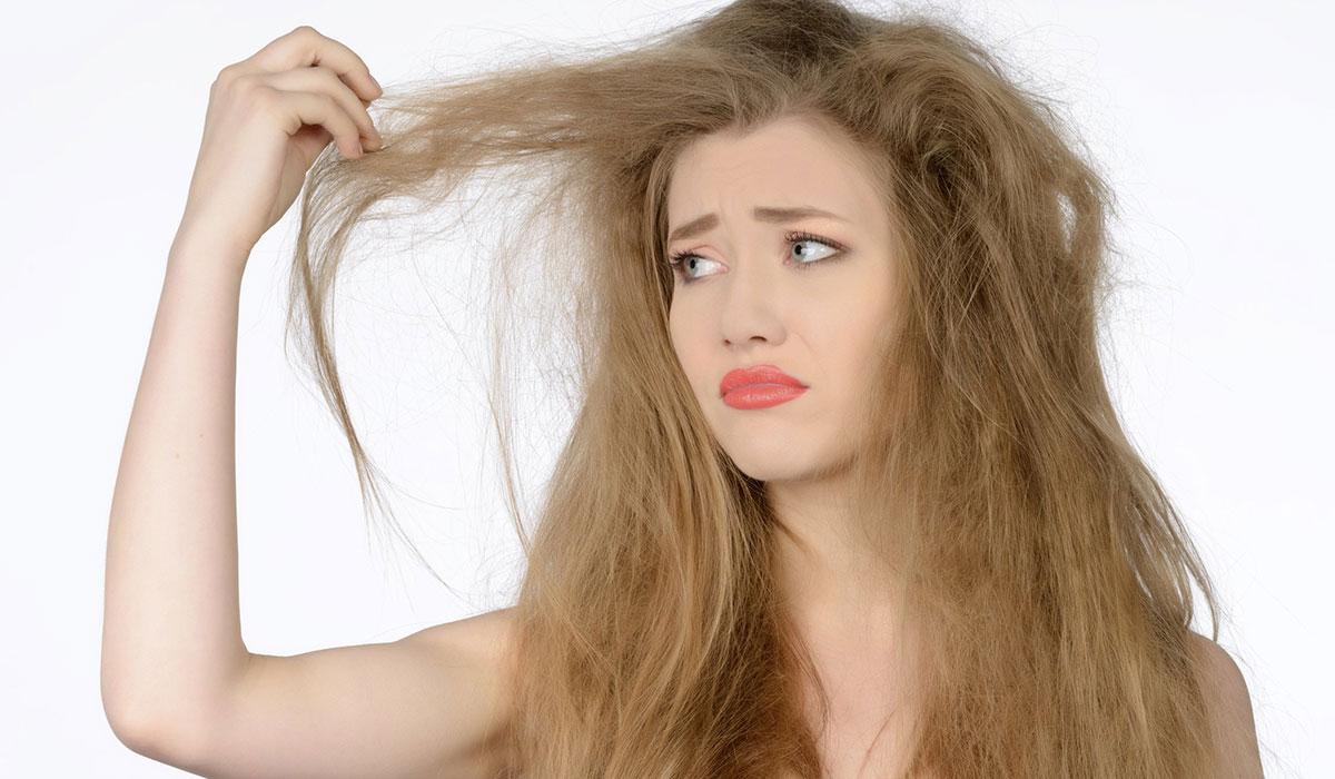 مشاكل الشعر الجاف