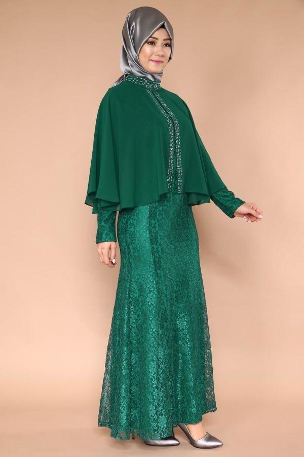 فستان ستان طويل سادة