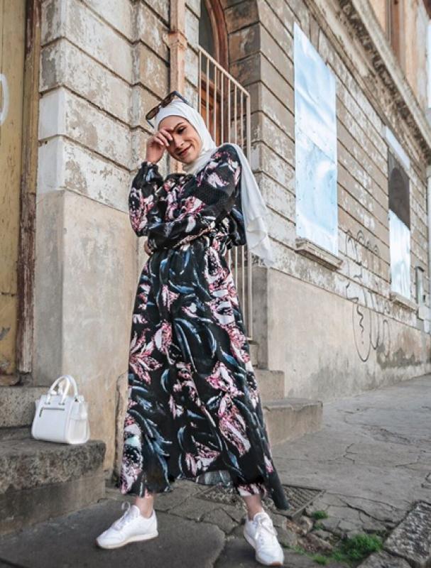 أجمل الفساتين الشيفون للمحجبات