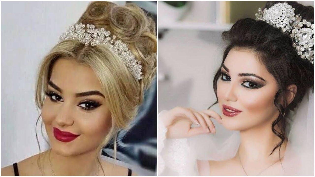 أجمل تسريحات شعر عروس 2019