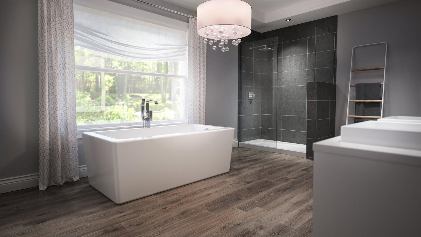 أجمل تصميمات حمامات 2019 باللون الرمادي