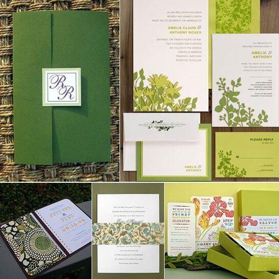 أجمل ثيمات الزفاف الخضراء اللون