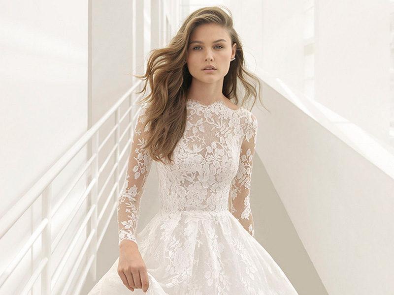 أجمل فساتين العرس المزينة بالدانتيل