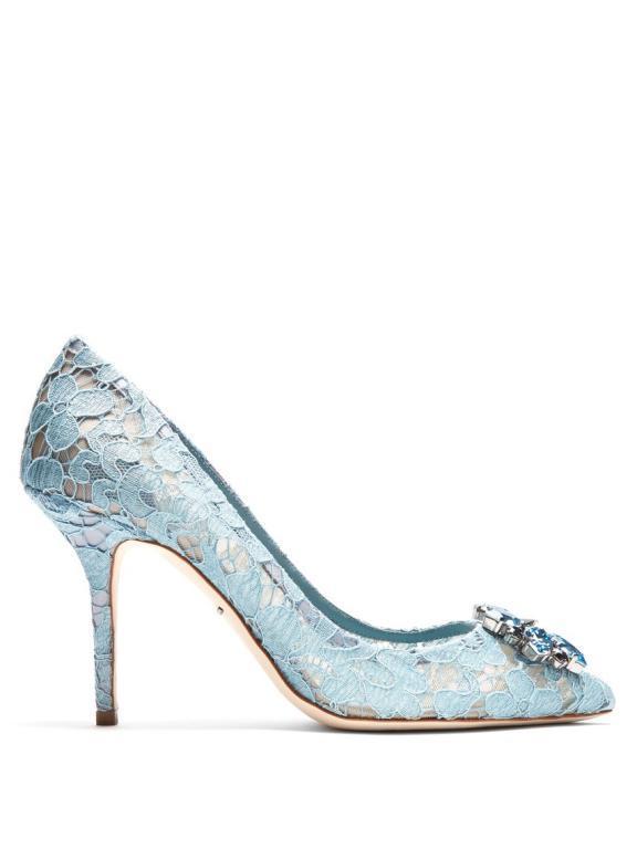 أحذية عروس ساحرة باللون الازرق