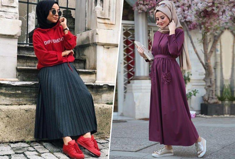 اجمل ملابس المحجبات للعيد