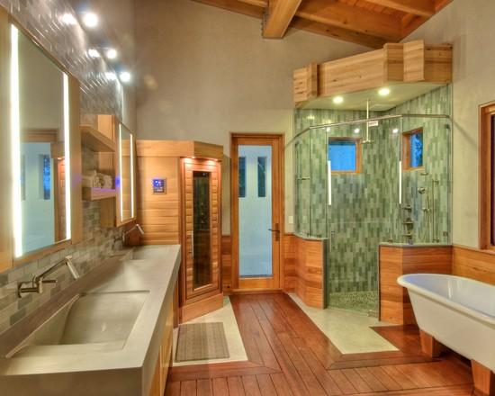 ارضيات-حمام-خشب