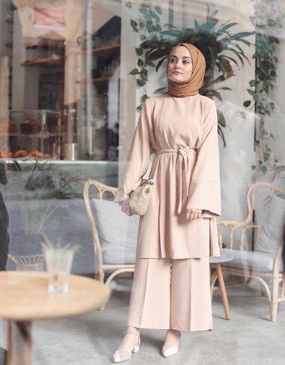 البنطلون الشارلستون للمحجبات أجمل صيحات الموضة لعام 2019