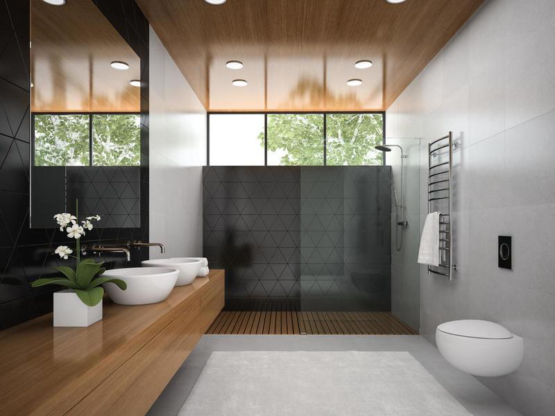 التميز طابع السيراميك الرمادي للحمامات