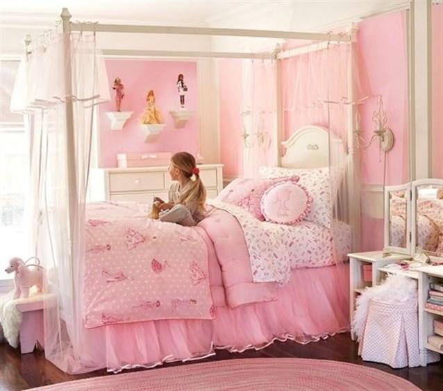 الديكور الوردي يزين ديكور غرف بنات 2019