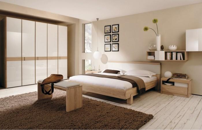 اللون البني يزين غرفة نوم ذات طابع مودرن
