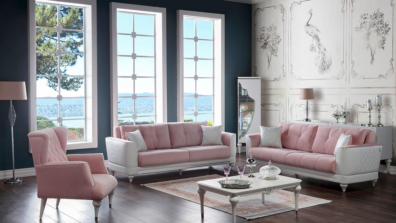 الوردي والاوف وايت أحدث الصيحات المعتمدة في تصميم الصالونات التركية لعام 2019