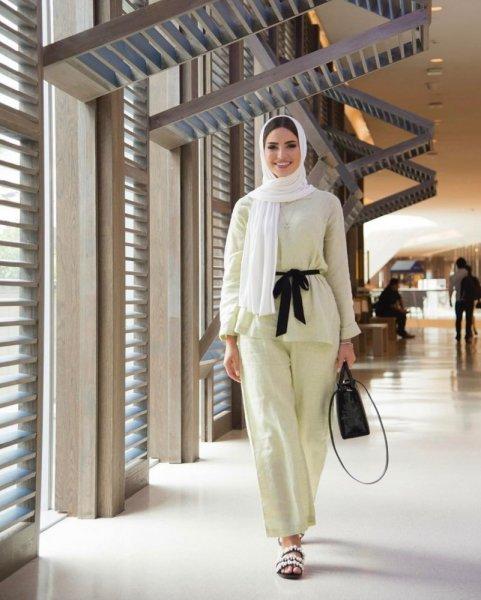 بنطلون-واسع-كلوش-مع -الحجاب-2019- (1)