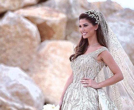تسريحة شعر رقيقة للعروس اللبنانية
