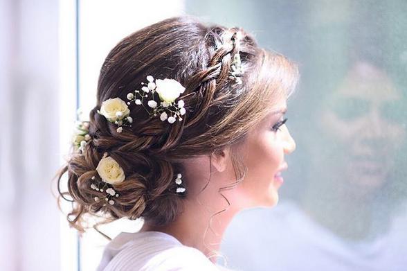 تسريحة عروس مميزة بأنامل لبنانية