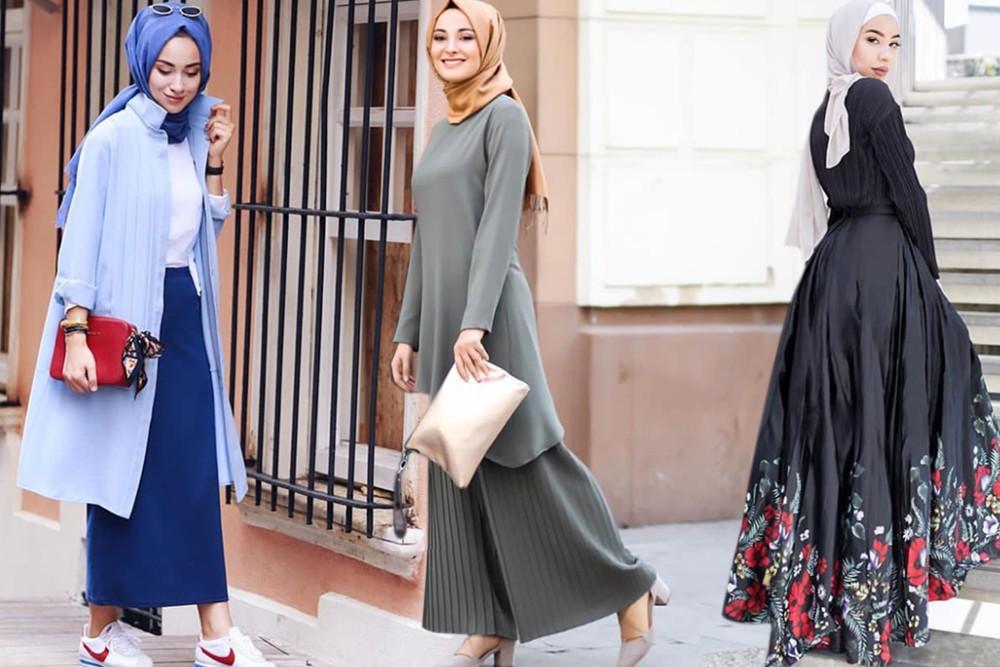 تصميمات مختلفة ومتنوعة لملابس المحجبات