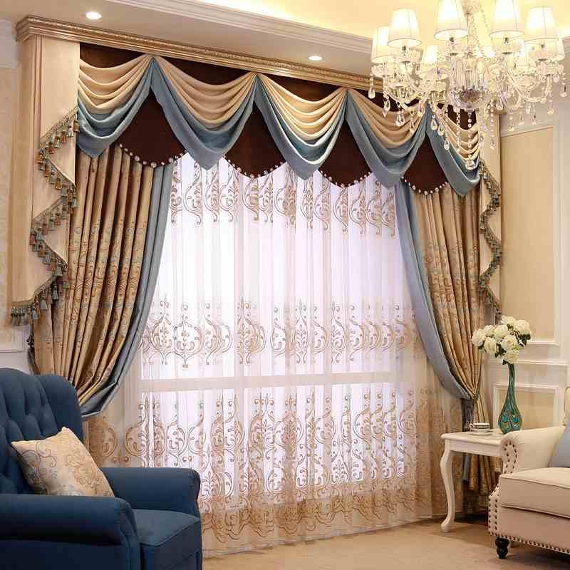 تصميمات مميزة لستائر غرفة الصالون
