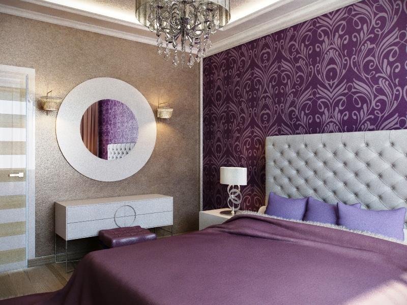 تصميم مميز لورق حائط غرف النوم