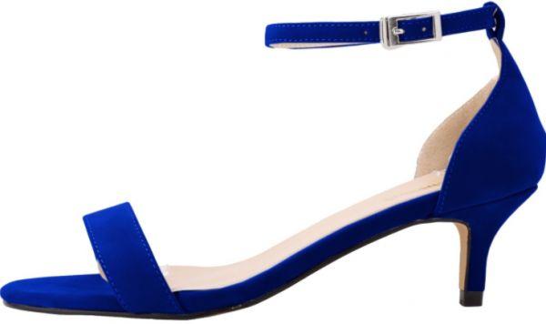حذاء عروس باللون الازرق