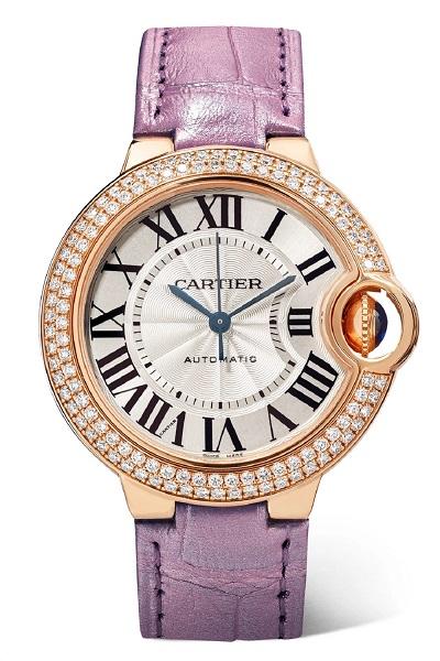 ساعة من دار كارتييه مرصعة بحبات الماس الفخم