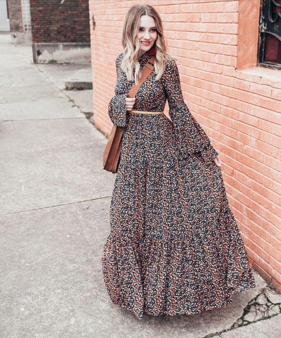 فستان شيفون يلائم ستايل المحجبات