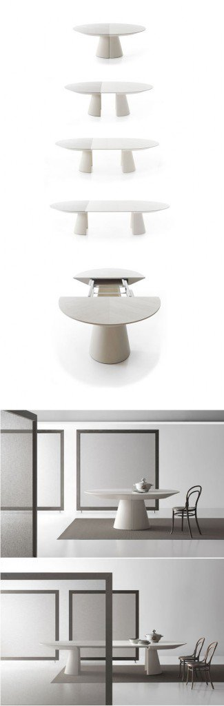 تصميم طاولة طعام خشبية قابلة للتمدد