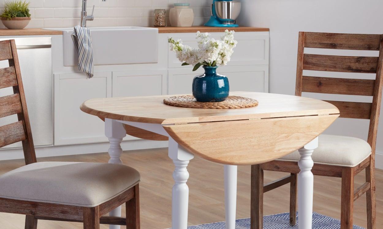 طاولة طعام خشبية صغيرة قابلة للطي