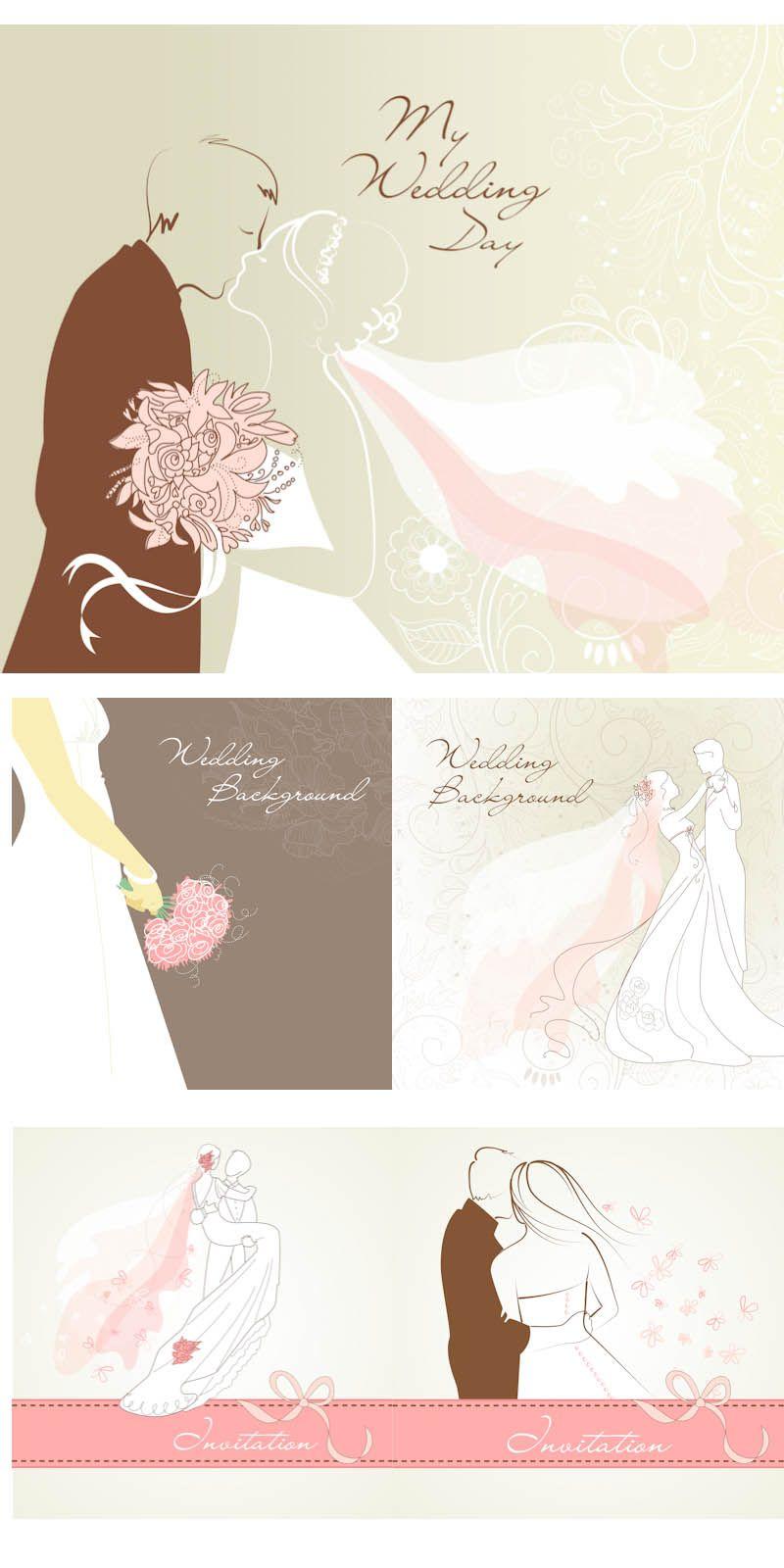 أشكال ثيمات زواج فارغة على شكل عروسة