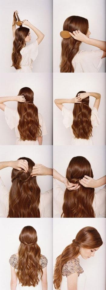 تسريحات شعر طويل مبسطة بالخطوات