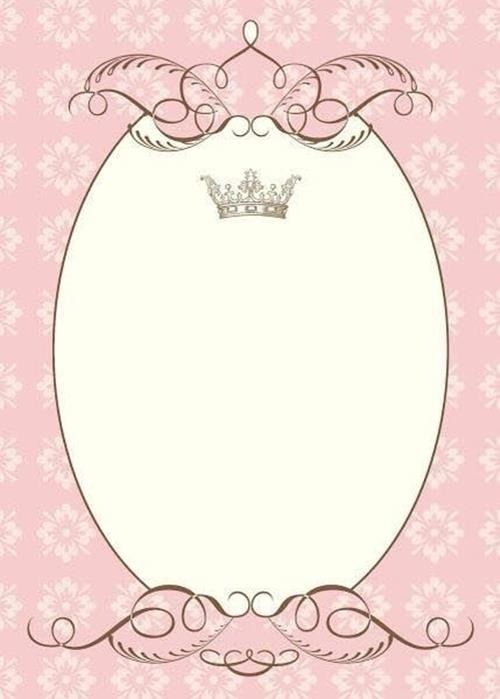 Convite Princesa – ثيمات مواليد ملونة تناسب الفتيات  ! – Modelos de Convite