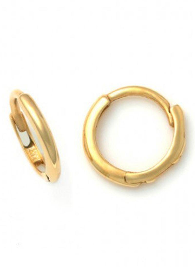 تصميم  حلق ذهبي على شكل دائرة مغقلة
