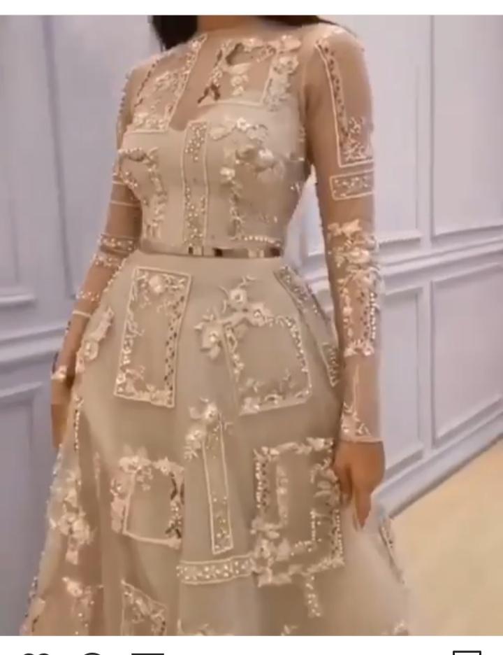 أليكم  تصميم فستان سهرة طويل مصنوع من الجوبير