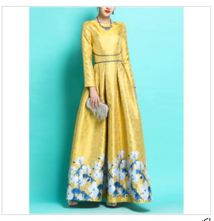 صور  أشكال فستان ستان طويل مشجر للمحجبات مناسب للسهرات