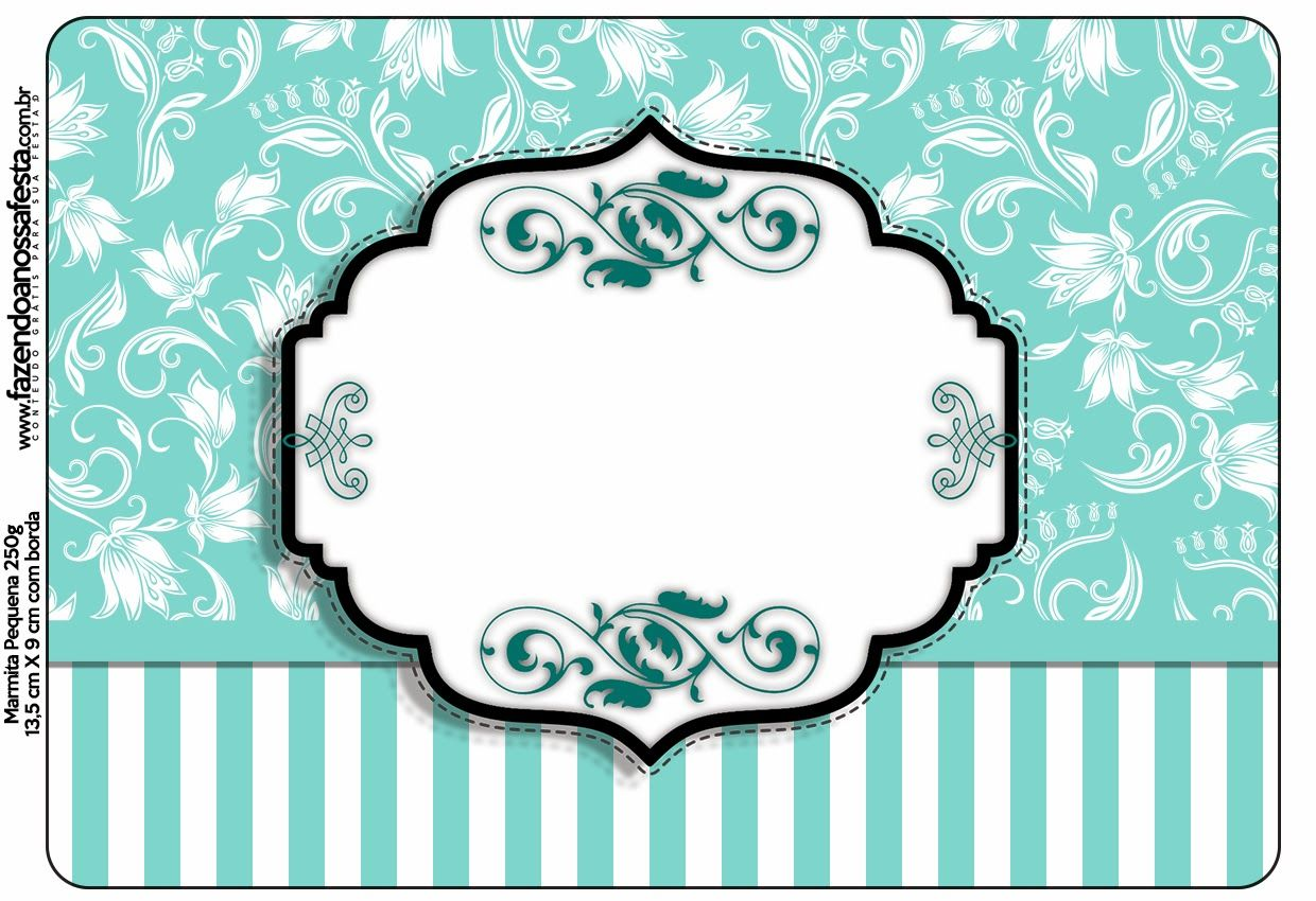 Tiffany´s Party Free Printable Candy Bar Labels_