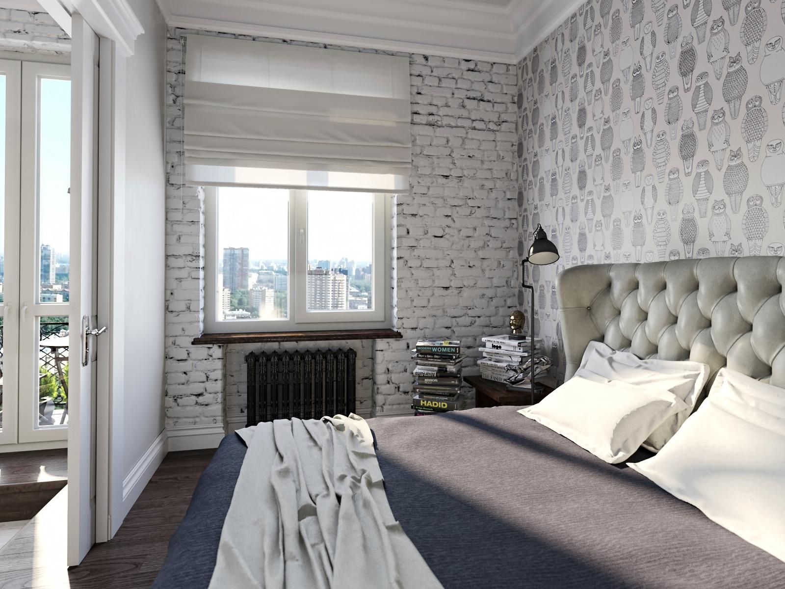 ورق حائط لغرف النوم ملون ومشجر