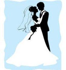 أشكال ثيمات زواج فارغة على شكل عريس وعروسة