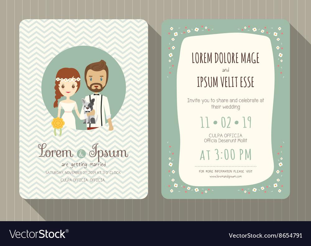 دعوة لحضور حفل زفاف بتصميم بسيط ومميز