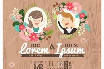 أشكال تصميم دعوة لحضور حفل زفاف مزينة بإطار من الورود